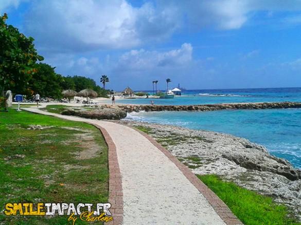 Hotel Hilton - promenade jusqu'a la plage