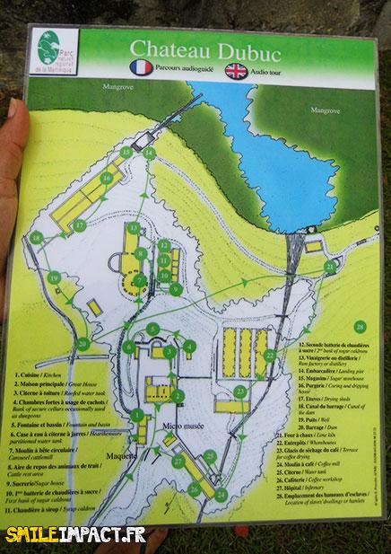Carte intéractive de l'habitation Dubuc