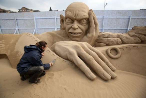 Sculpture de sable - Gollum